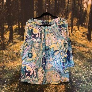 Patterned cotton Talbots blouse (18W)
